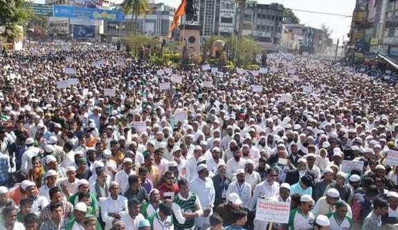 Photo of Millions march in Nanded for Muslim Reservations