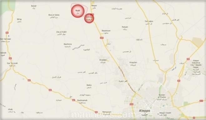 Photo of 21 rocket shells on Shia towns of Nubl& Al-Zahraa; 2 killed 10 injured