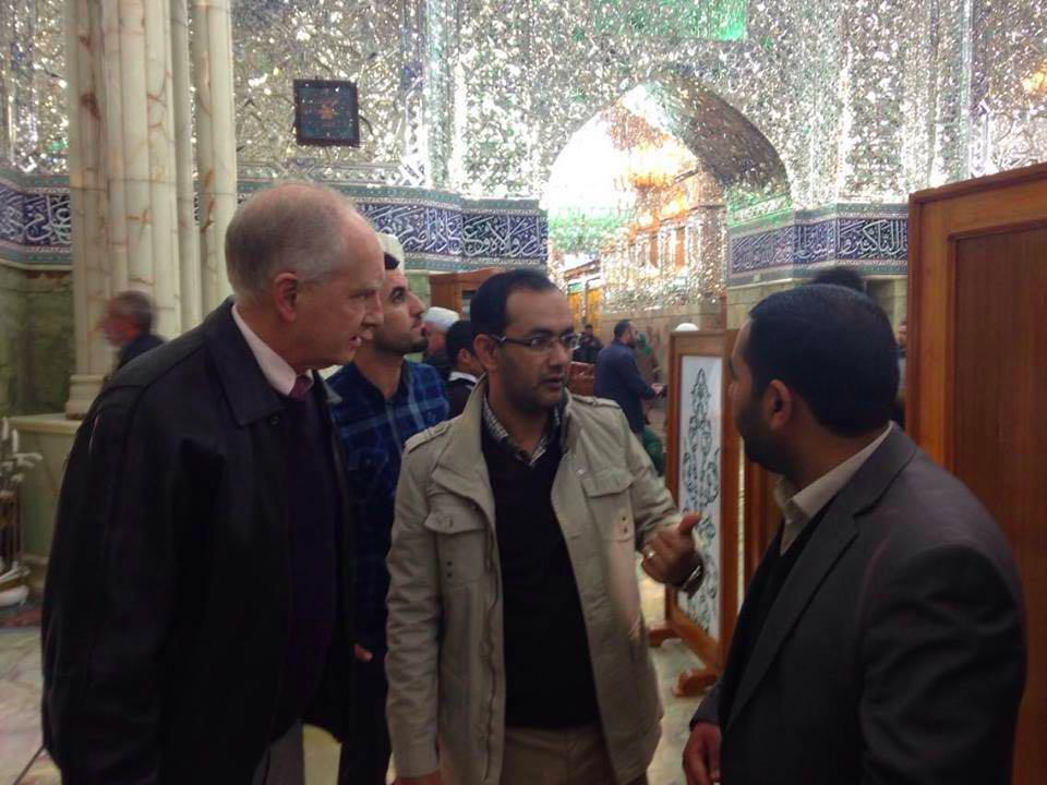 Photo of American academic: Imam Ali Holy Shrine is the best place for peaceful coexistence amongst religions