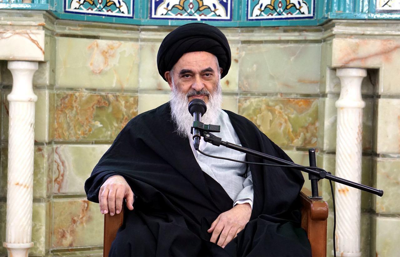 Photo of Grand Ayatollah Shirazi delivers speech on Prophet Muhammad
