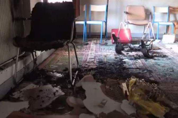 Photo of Arson in a muslim prayer room at Château-Thierry, France