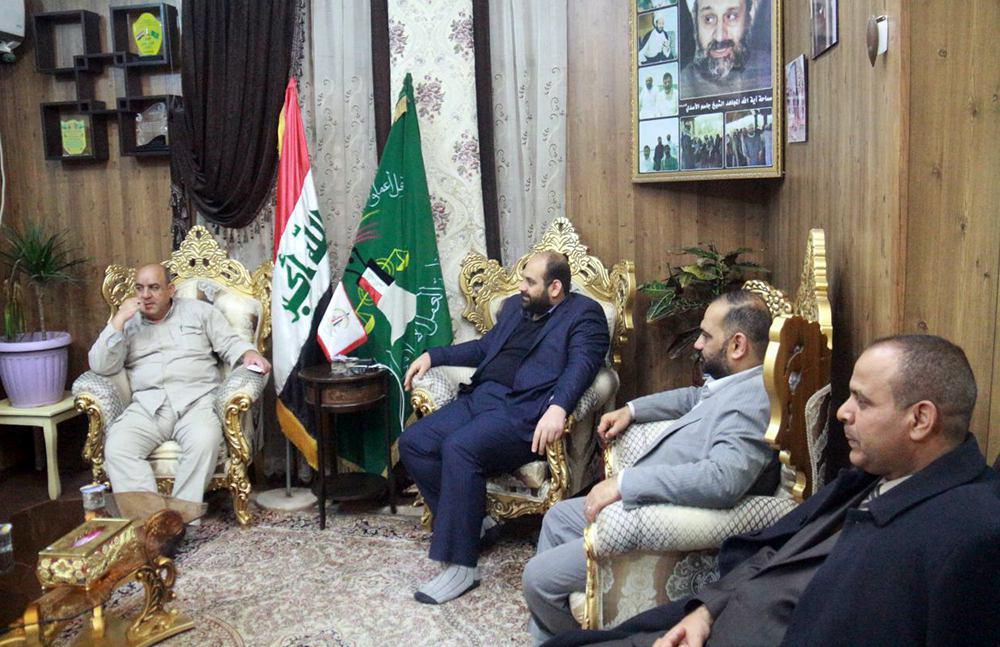 Photo of Deputy Director of Islamic Action Organization meets ninth battalion commander of Public Mobilization Units