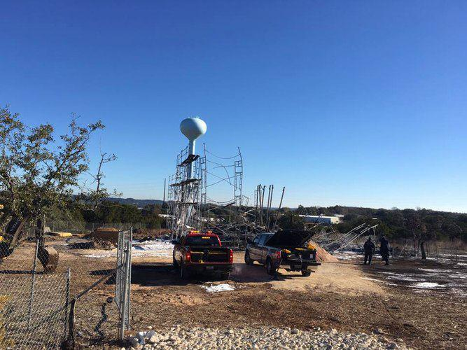 Photo of Mosque burns to the ground near Lake Travis Texas, USA; cause of fire unknown