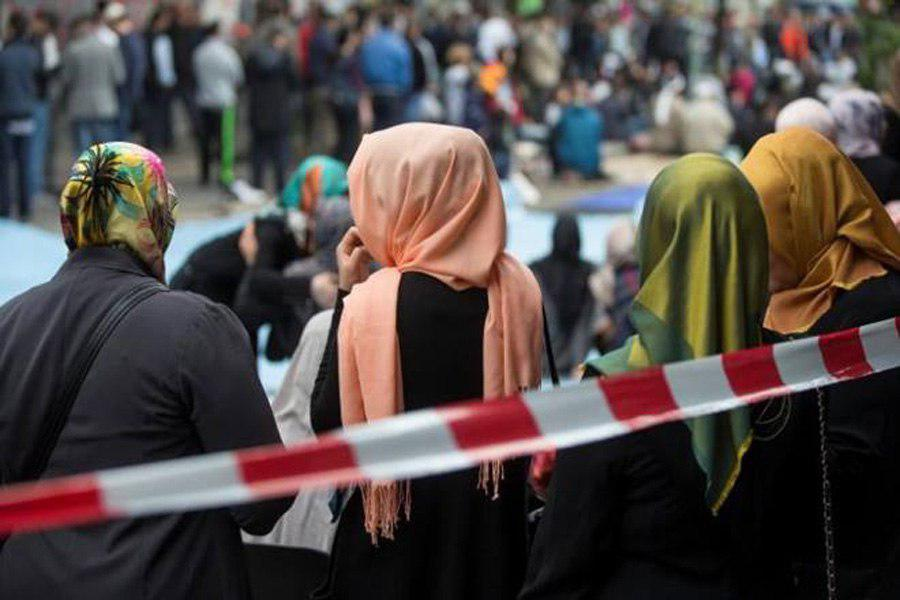Photo of Protest in Vienna against Austria's headscarf ban