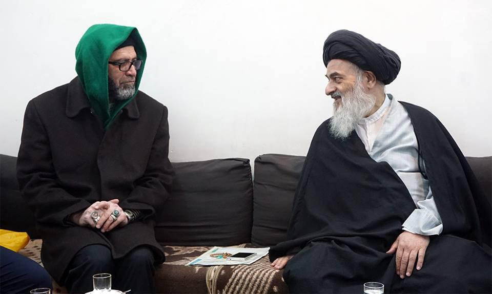 Photo of Grand Ayatollah Shirazi hosts custodians of Imam Sadiq's Site in Karbala