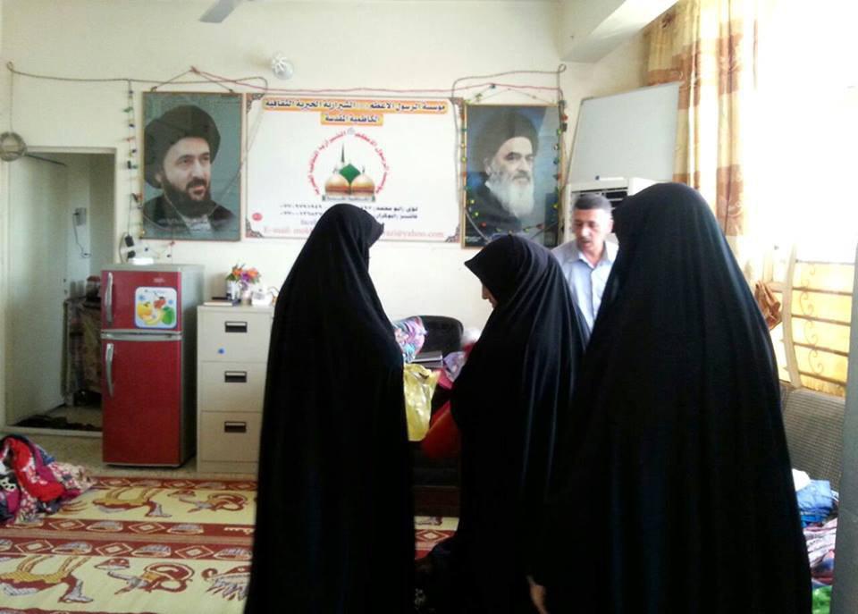 Photo of Charitable donations to needy families in holy Kadhimiyah, Iraq