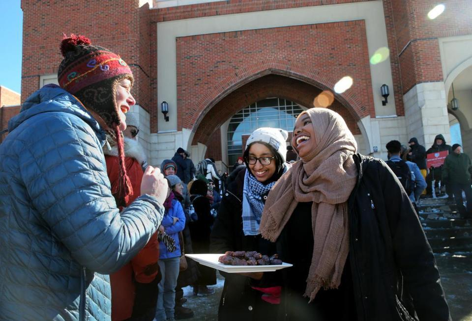 Photo of People build wall of compassion at Boston Mosque