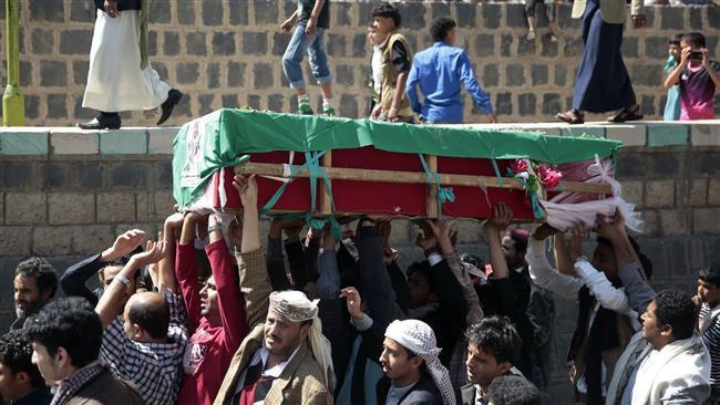 Photo of Six women killed in Saudi airstrike targeting funeral in Sana'a