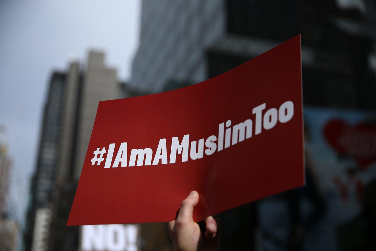 Photo of New York marchers say 'I am a Muslim too'