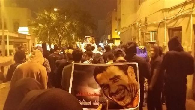 Photo of Bahrainis rally in protest at regime crackdown
