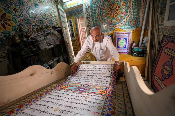 Photo of Egyptian artist hopes for record with 700-meter Quran