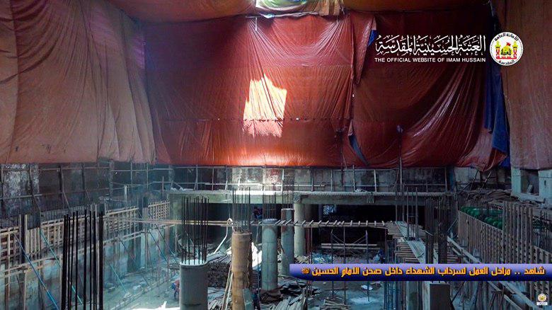 Photo of Basement being achieved in Imam Hussein Holy Shrine