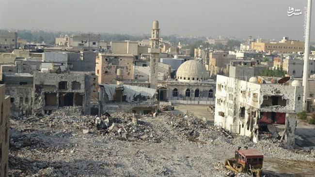 Photo of Saudi bulldozers reduce Awamiyah to rubble as residents flee violence