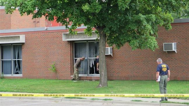 Photo of 'Improvised explosive device' caused blast at Minnesota mosque: FBI