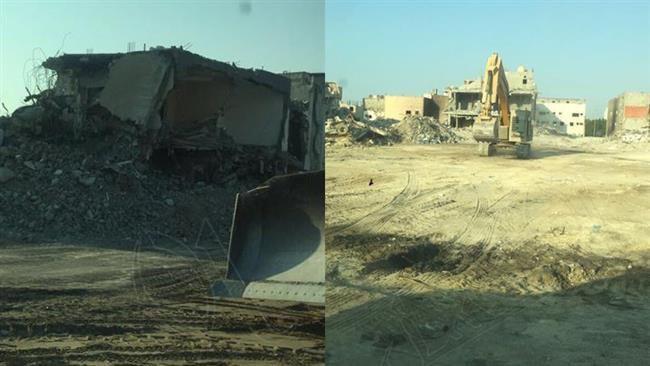 Photo of Al-Musawara neighborhood totally destroyed, Saudi Arabia says