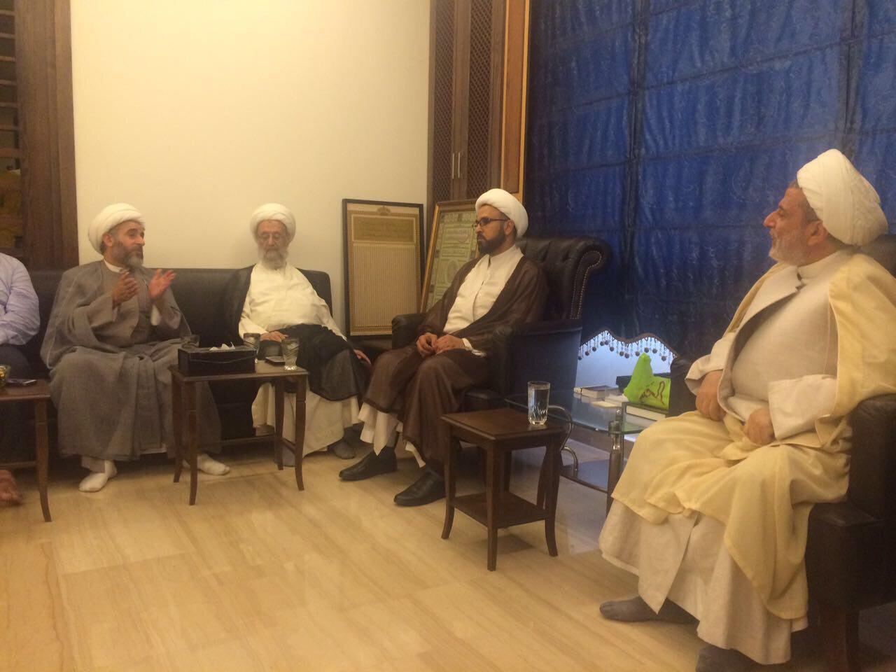 Photo of Grand Ayatollah Shirazi office visits Jurists' offices in Lebanon