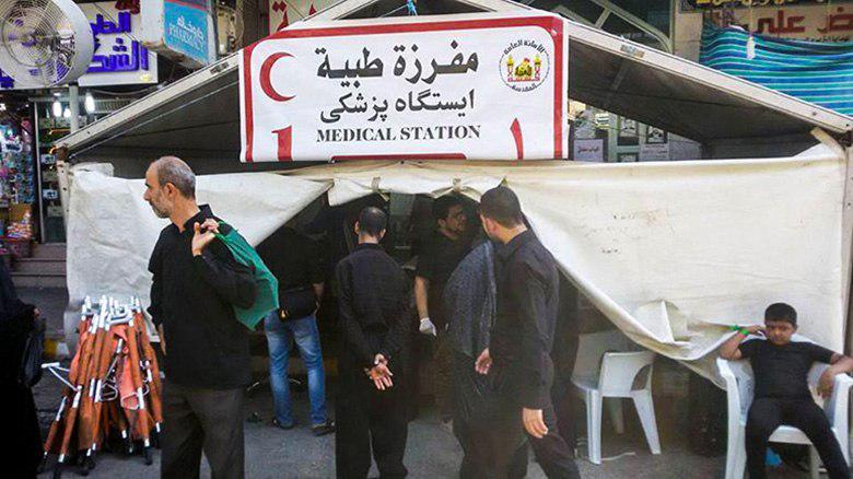 Photo of Imam Hussein Shrine's medical staff alert to helping pilgrims