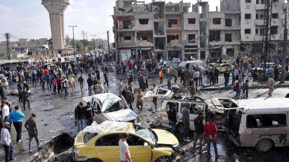 Photo of Multiple terrorist bomb attacks kill 15 people in Damascus