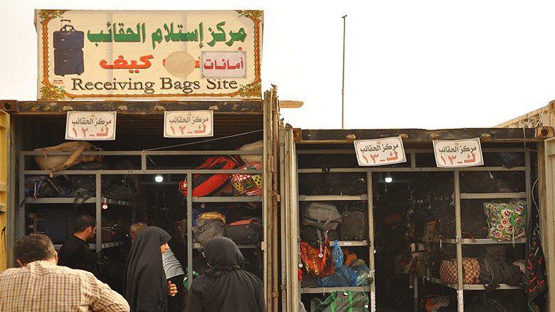 Photo of Large storage containers around Imam Hussein Shrine for pilgrims' luggage