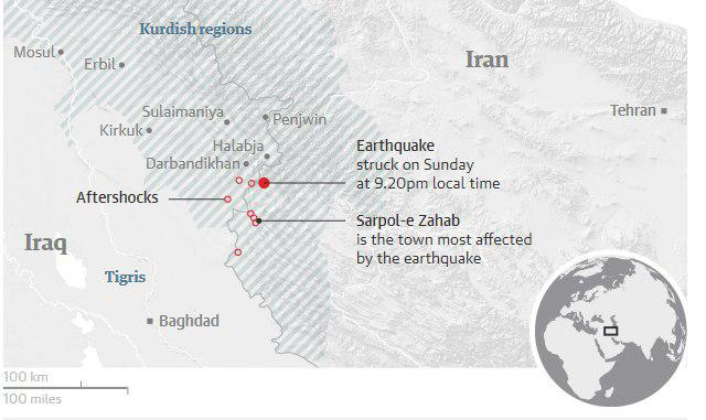 Photo of Iran-Iraq earthquake death toll climbs to more than 400