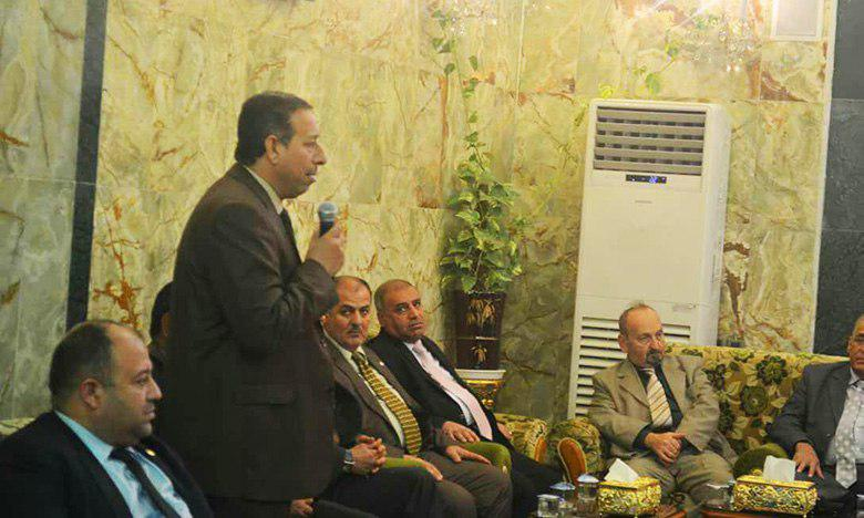 Photo of Arab Teacher Union directors visit Imam Hussein Shrine