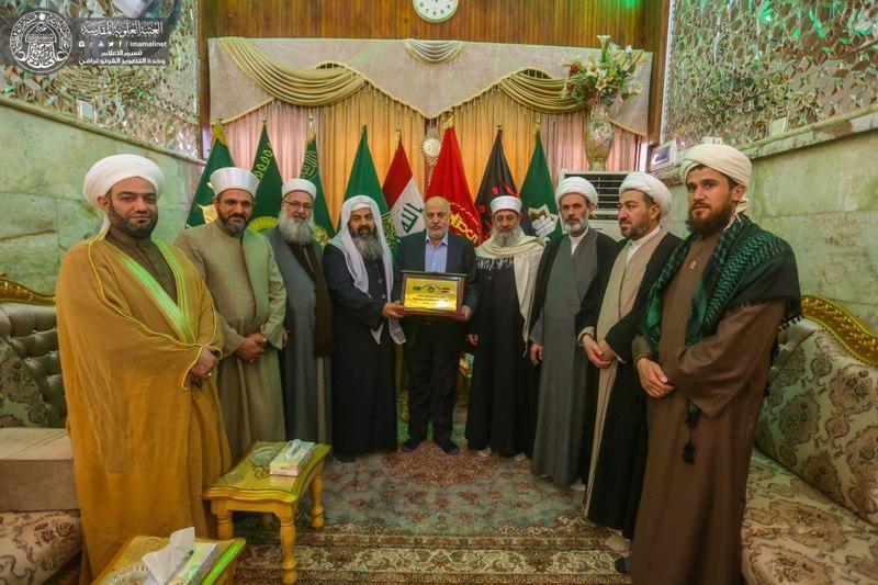 Photo of Iraqi Turkmen scholars visit Imam Ali holy shrine