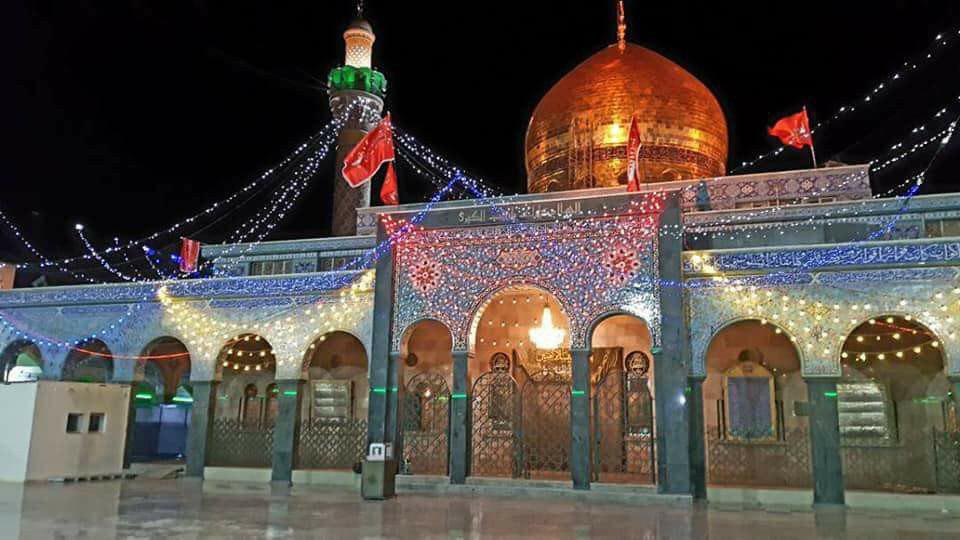 Photo of Holy Shrine of Lady Zaineb, peace be upon her, decorated with flowers on her auspicious birth anniversary+ Photoes