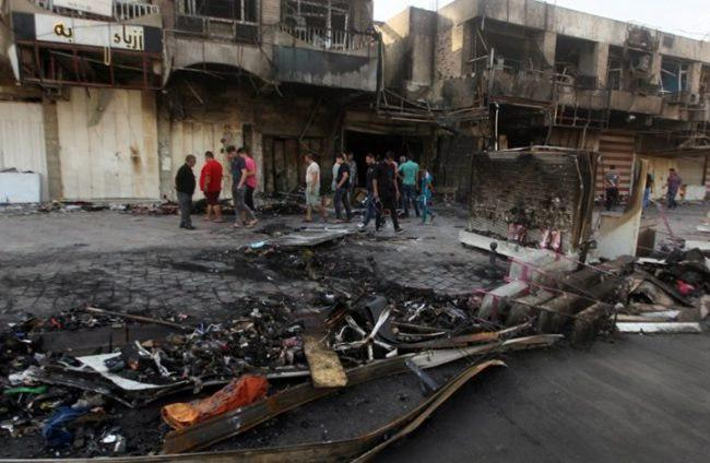 Photo of 4 people killed, wounded in bomb blast near Baghdad market