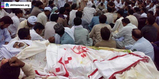 Photo of Shia Muslims stage sit-in to protest against Shia killings in Dera Ismail Khan