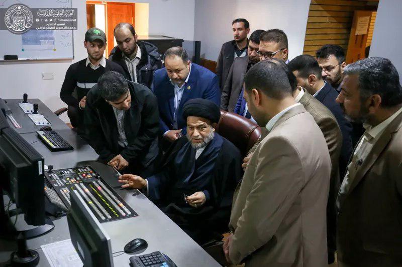 Photo of Head of Iraq's Shia endowment opens Imam Ali holy shrine's satellite channel