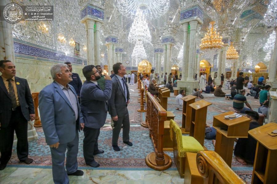 Photo of Swedish Ambassador to Iraq: We Respect the Holiness of the Holy Shrine of Imam Ali