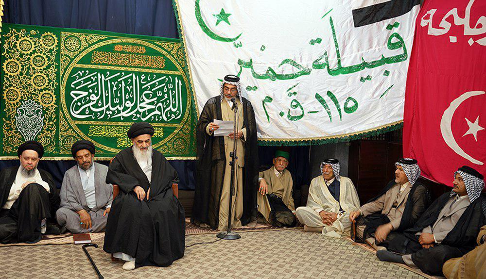 Photo of Iraqi tribal leaders offer their written allegiance to Grand Ayatollah Shirazi