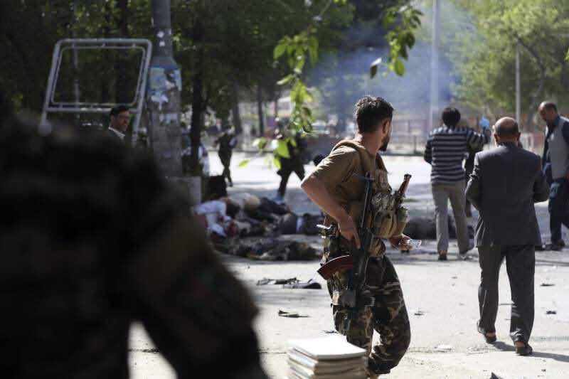 Photo of Afghanistan's capital hit by coordinated bombings