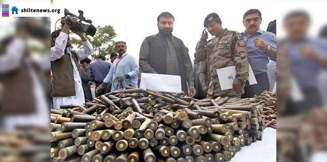 Photo of Heavy weapons seized in raid on Lashkar-E-Jhangvi hideout in Quetta