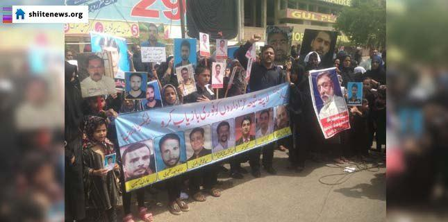 Photo of Shia missing persons families hold demonstration at youm-e-Ali procession