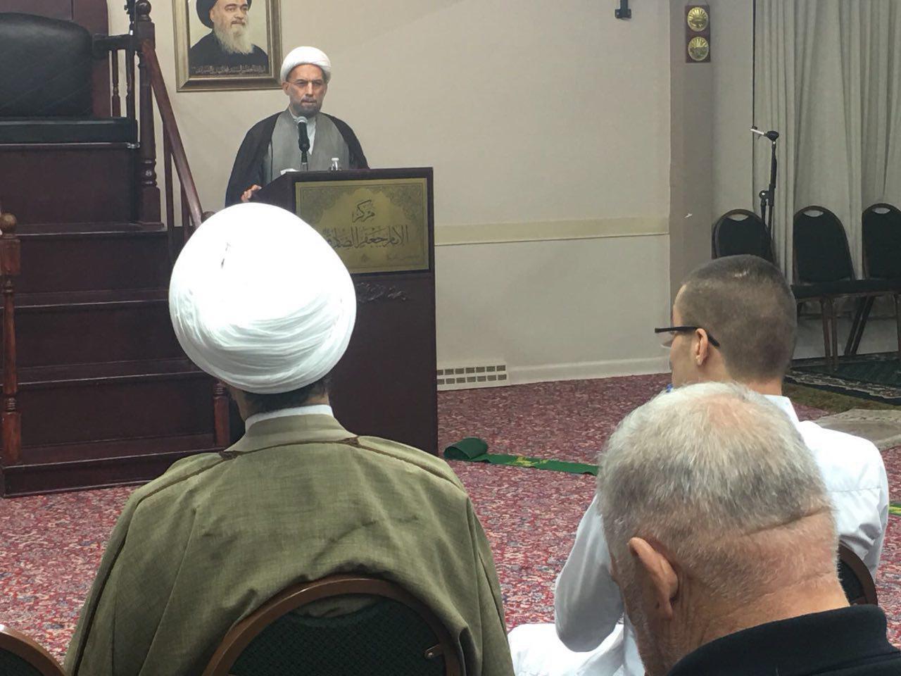Photo of Memorial ceremonies marking demise anniversary of Grand Ayatollah Sayyid Muhammad Shirazi