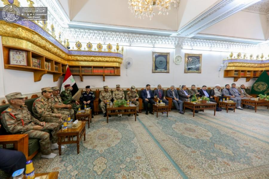 Photo of Imam Ali Holy Shrine receives chiefs of border forces