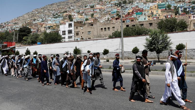 Photo of Afghan peace marchers address demands to President Ghani in Kabul