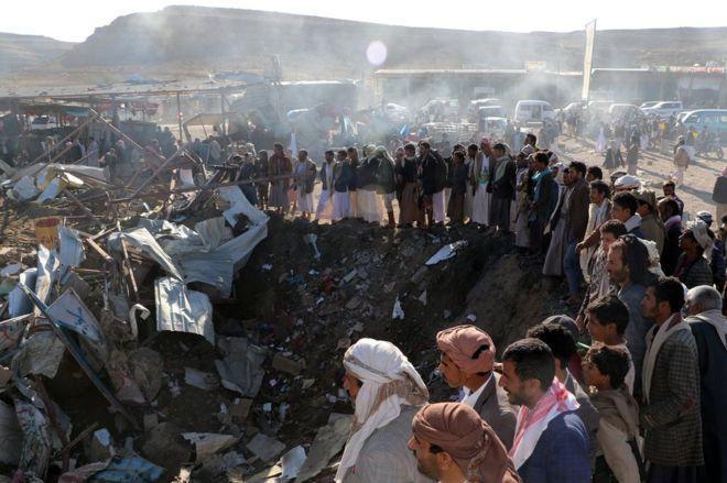 Photo of Saudi-led air strikes on Saada, 10 civilians killed, injured