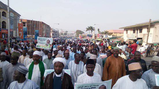 Photo of Nigerian police attack peaceful 'Free Zakzaky Protest' in Kaduna, 2 Shia martyred