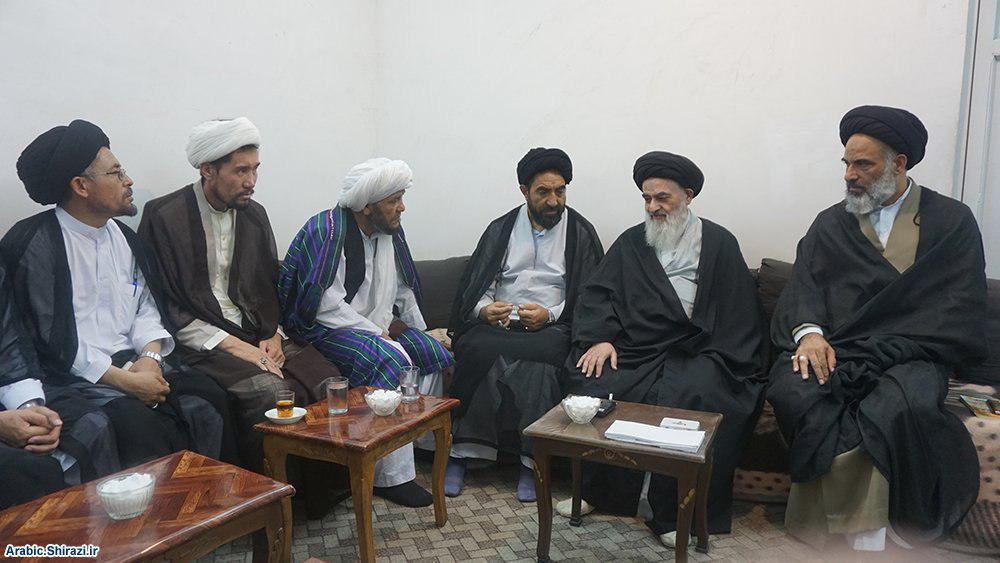 Photo of Prayer leaders and speakers from Afghanistan meet with Grand Ayatollah Shirazi