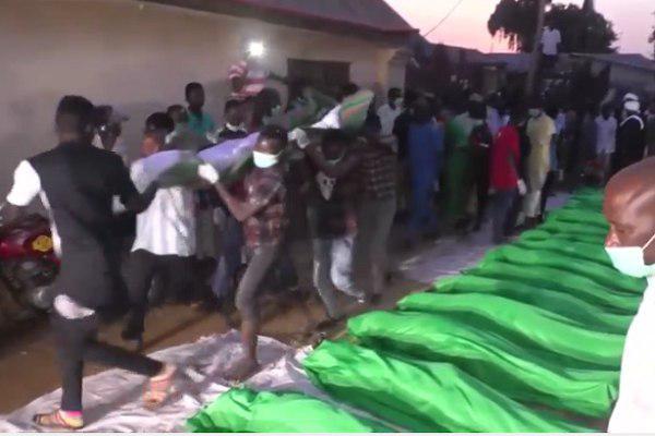 Photo of Shia community bury their fellows killed by Nigerian army