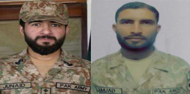 Photo of Pak army captain and a soldier martyred a terror incidents