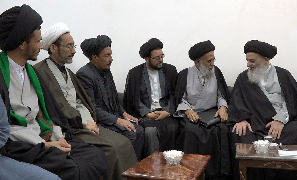 Photo of Members of Bamyan city council visit Grand Ayatollah Shirazi