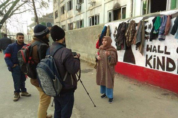 Photo of 'Wall of Kindness' set up in Kashmir by 'Who Is Hussain' organization