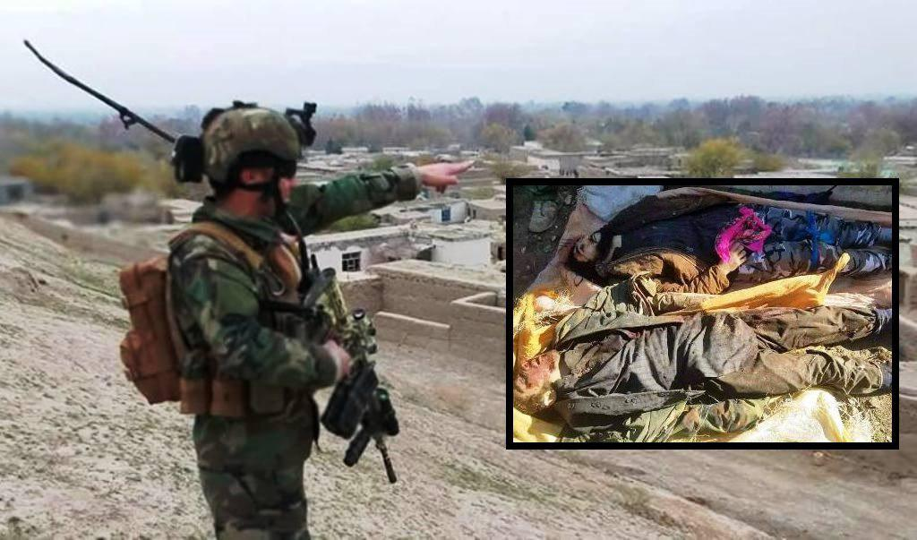 Photo of Taliban commander and his comrades killed in Faryab province