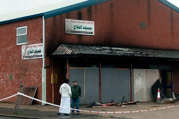 Photo of Arson attack on Manchester mosque 'truly disgusting'