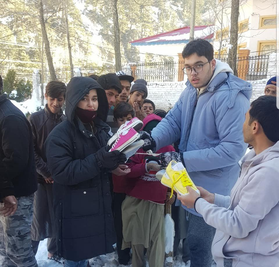 Photo of Street school founders distribute winter aids to needy people
