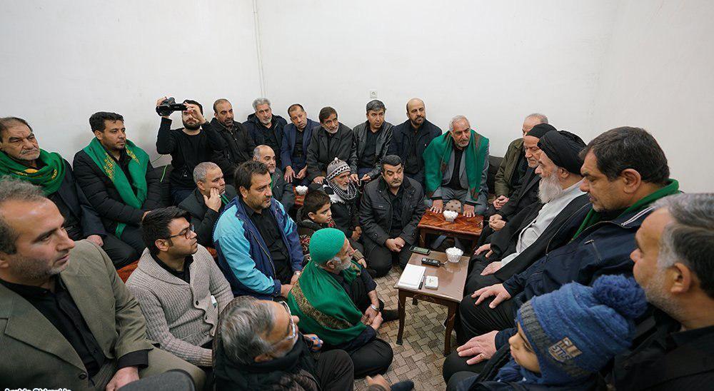Photo of Members of Karbalayis Society from Mashhad visited Grand Ayatollah Shirazi