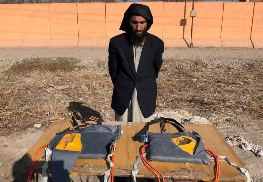 Photo of 3 suicide bombers arrested in Nangarhar